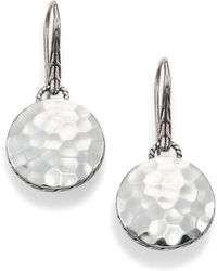 John Hardy | Palu Sterling Silver Disc Drop Earrings | Lyst