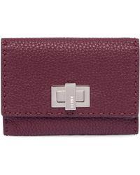 Fendi | Peekaboo Leather Wallet | Lyst