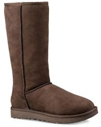 UGG Classic Tall Ii Shearling-lined Suede Boots - Brown