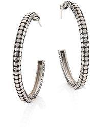 John Hardy | Dot Medium Sterling Silver Hoop Earrings/1.5 | Lyst