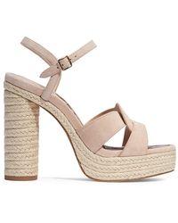 COACH Talina Suede Espadrille Platform Sandals - Multicolor