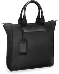 Montblanc - Vertical Leather Tote - Lyst