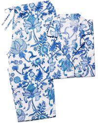 Roberta Roller Rabbit Amanda 2-piece Paisley Pajama Set - Blue