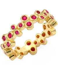 Temple St. Clair - Trio Eternity Ruby Ring - Lyst