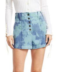 3.1 Phillip Lim - Tie-dye Denim Shorts - Lyst