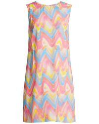 M Missoni Chevron Print Shift Dress - Pink