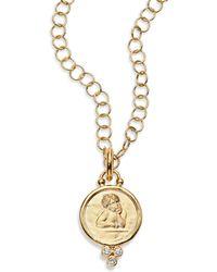 Temple St. Clair - Angel Diamond & 18k Yellow Gold Medium Pendant - Lyst