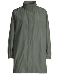 Eileen Fisher Stand Collar Longline Coat - Multicolor