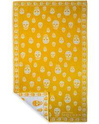 Alexander McQueen Skull Beach Towel - Yellow