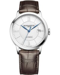 Baume & Mercier - Classima 10214 Stainless Steel & Alligator Strap Watch - Lyst
