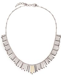 Coomi Diamond, 20k Yellow Gold & Sterling Silver Necklace - Metallic