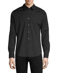 Theory Sylvain Wealth Button-down Shirt - Black