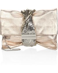 Jimmy Choo - Chandra Metallic Ballet Clutch - Lyst