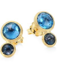 Marco Bicego - Jaipur 18k Yellow Gold & Topaz Stud Earrings - Lyst