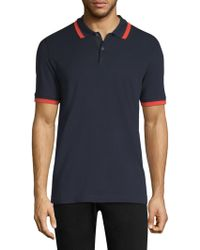Theory - Bold Stripe Pique Polo - Lyst