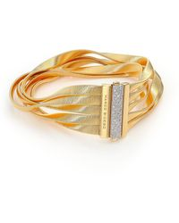 Marco Bicego - Marrakech Diamond, 18k Yellow Gold & 18k White Gold Multi-row Bracelet - Lyst