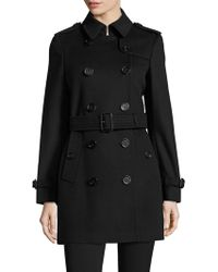 Burberry - Kensington Wool & Cashmere Trench Coat - Lyst