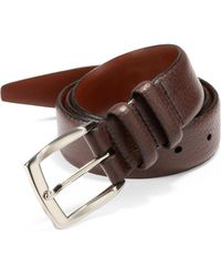 Saks Fifth Avenue - Tumbled Leather Belt - Lyst