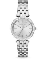 6d6c5932e20e Michael Kors - Mini Darci Stainless Steel Glitz Bracelet Watch - Lyst