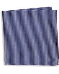 Armani - Thin Stripe Silk Pocket Square - Lyst