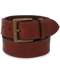 Frye Flat Panel Leather Belt - Multicolor