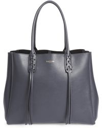 Lanvin - Small Tasseled Leather Tote - Lyst