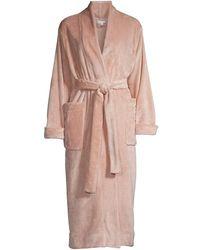 Skin Winna Fleece Robe & Scrunchie Set - Multicolor