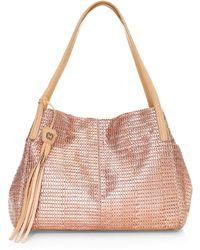 Eric Javits Aura Woven Metallic Tote Bag - Pink