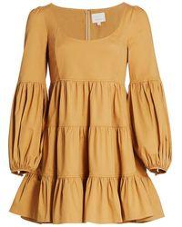 Cinq À Sept Rose Tiered Ruffle Mini Dress - Metallic