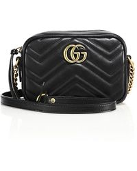 Gucci - Gg Marmont Matelassã© Shoulder Bag - Lyst