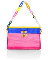 Edie Parker Miss Mini Rainbow Acrylic Shoulder Bag - Multicolor