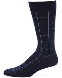 Pantherella - Lambeth Motif Windowpane Socks - Lyst