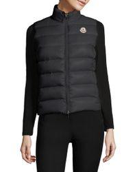 d6401f9e6 Lyst - Moncler Ghany Zip Puffer Vest in Black