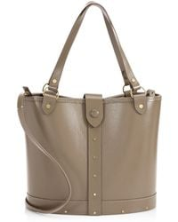 The Row - Leather Pail Bag - Lyst