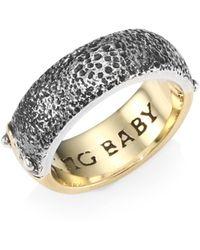 King Baby Studio - Yin Yang Two-tone Band Ring - Lyst