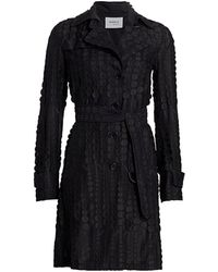 Akris Punto Embroidered Dot Trench Coat - Black