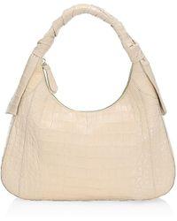 Nancy Gonzalez Isa Crocodile Shoulder Bag - Natural