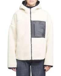 3.1 Phillip Lim Bonded Faux Shearling Sporty Jacket - White