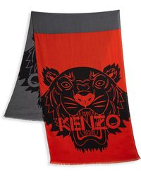 KENZO - Frayed Scarf - Lyst