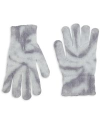 John Elliott Tie-dye Knit Cashmere-blend Gloves - Gray