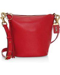 COACH - Pebble Leather Duffle Bag - Lyst