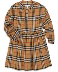 Burberry - Little Girl s   Girl s Marny Cotton Check Dress - Antique Yellow  - Size 8 a87fc61dbe4