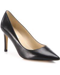 L.K.Bennett - Florete Patent Leather Point-toe Court Shoes - Lyst