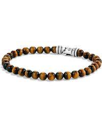 David Yurman - Spiritual Bead Tiger's Eye Bracelet - Lyst