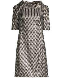 Trina Turk Kailee Chevron Metallic Shift Dress