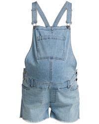 DL1961 Dl1961 Premium Denim Maternity Abigail Denim Overalls - Blue