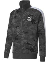 PUMA Men's Classics Graphics Aop T7 Cotton Track Jacket - Grey - Size S