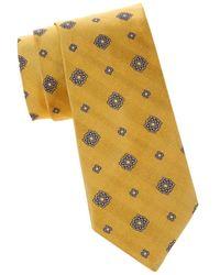 Brooks Brothers Men's Medallion Silk Tie - Yellow