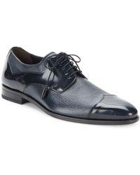 Mezlan - Pebbled & Patent Leather Oxfords - Lyst