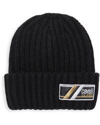 Roberto Cavalli - Wool Ribbed Knit Hat - Lyst aee3e029f683